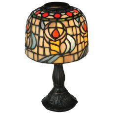 "9.25"" H Tiffany Rosebud Candle Lamp"