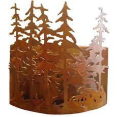 "10"" W Tall Pines Wall Sconce"