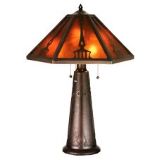 "29"" H Grenway Amber Mica Table Lamp"