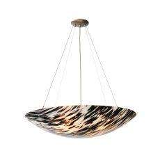 """30"""" W La Perla Nera Fused Glass Inverted Pendant"""