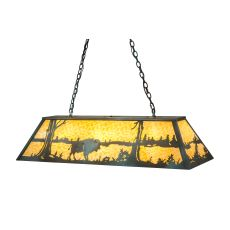 "48"" L Buffalo At Lake Oblong Pendant"