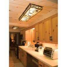 "60"" L Whispering Pines Led Oblong Flushmount"