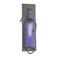 """4"""" W Tuscan Vineyard Frosted Blue Wine Bottle Pocket Wall Sconce"""