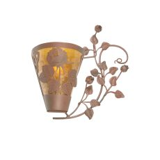 "20.5"" W Roses & Leaves Wall Sconce"