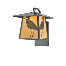 """12"""" W Stillwater Heron Curved Arm Wall Sconce"""