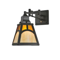 """14"""" W Mission Hill Top Swing Arm Wall Sconce"""