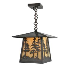 "12"" Sq Stillwater Tall Pines Ceiling Pendant"