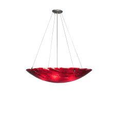 "30"" W Pomodoro Caldo Fused Glass Inverted Pendant"