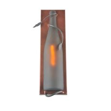 """4"""" W Tuscan Vineyard Frosted Amber Wine Bottle Pocket Wall Sconce"""