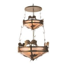 """44"""" W Catch Of The Day Sailfish Two Tier Inverted Pendant"""