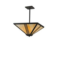 "24"" Sq Tres Lineas Mission Inverted Pendant"