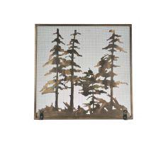 "34"" W X 33"" H Tall Pines Fireplace Screen"