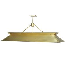 "60"" L Natural Brass Oblong Pendant"