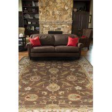 Classic Oriental Pattern Brown/Ivory Wool Area Rug (9X12)