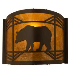 "12""W Lone Bear Wall Sconce"