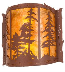 """15""""W Tall Pines Wall Sconce"""