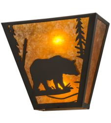 "13""W Bear Creek Right Wall Sconce"