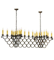 """71""""L Picadilly 23 Lt Oblong Chandelier"""