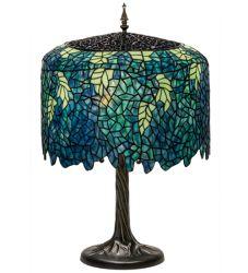 "28""H Tiffany Wisteria Table Lamp"