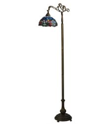 "60.5""H Tiffany Hanginghead Dragonfly Bridge Arm Floor Lamp"