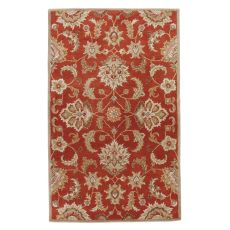 Classic Oriental Pattern Red/Gray  Wool Area Rug (9X12)