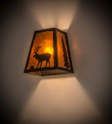 """8""""W Lone Stag Wall Sconce"""