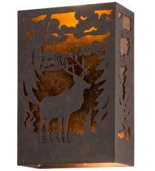 "10""W Deer Wall Sconce"