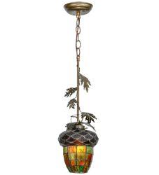 "7""W Greenbriar Oak Mini Pendant"