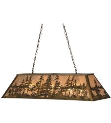 "48""L Tall Pines Oblong Pendant"
