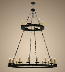 "61""W Loxley 24 Lt Two Tier Chandelier"