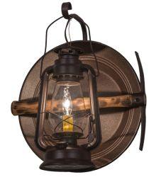 "14.5""W Miner'S Lantern Wall Sconce"