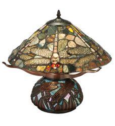 "16.5""H Dragonfly Cut Agata Table Lamp"