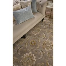 Classic Oriental Pattern Gray/Taupe  Wool Area Rug (9X12)