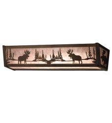 """24""""W Moose At Lake Vanity Light"""