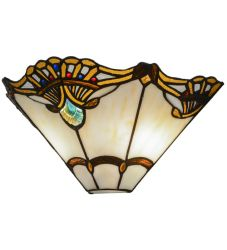 """14.5""""W Shell With Jewels Wall Sconce"""