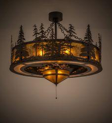"45""W Tall Pines W/Fan Light Chandel-Air"
