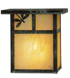 """8""""W Hyde Park T Mission Dragonfly Wall Sconce"""