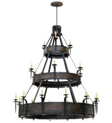 "72""W Costello 21 Lt W/Up And Downlights Three Tier Chandelier"