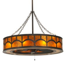 """44""""W Mission Hill Top W/Up And Downlights Chandel-Air"""