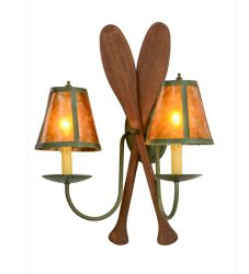 "17""W Paddle 2 Lt Wall Sconce"