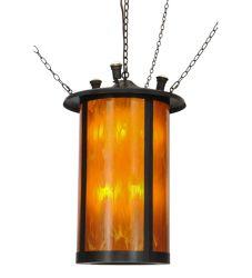 "24""W Fulton Prime W/Uplights Lantern Pendant"