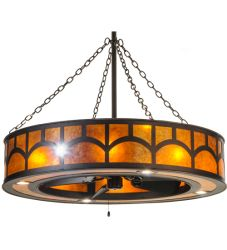 """44""""W Mission Hill Top W/Up And Downlights And Led Spotlight Chandel-Air"""