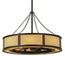 """44""""W Maplewood Beige Linen W/Up And Downlights Chandel-Air"""