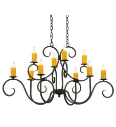 "48""L Clifton 10 Lt Oblong Chandelier"