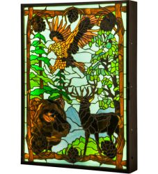"26""W Wilderness Dual Sided Led Window Box"