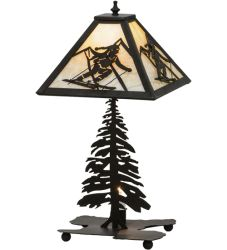 "22""H Alpine W/Lighted Base Table Lamp"