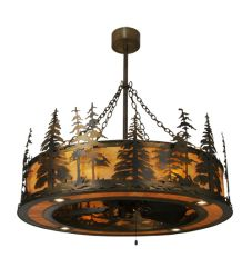 """44.5""""W Tall Pines W/Up And Downlights Chandel-Air"""