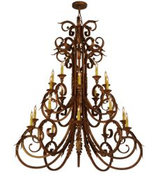 "48""W Serratina 20Lt Chandelier"