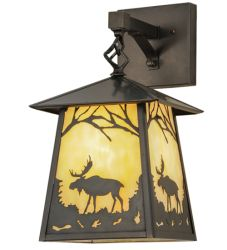 "8""W Stillwater Moose At Dawn Hanging Wall Sconce"
