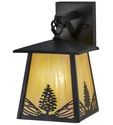 """7""""W Mountain Pine Hanging Wall Sconce"""